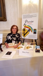 Mary signing books at the Women's Club of Minneapolis